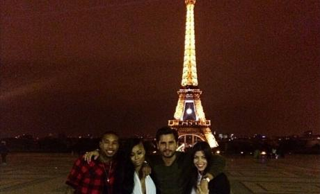 Kourtney Kardashian, Scott Disick, Tyga and Blac Chyna In Paris