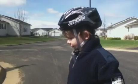Kid Conquers Bike-Riding, Inspires Masses