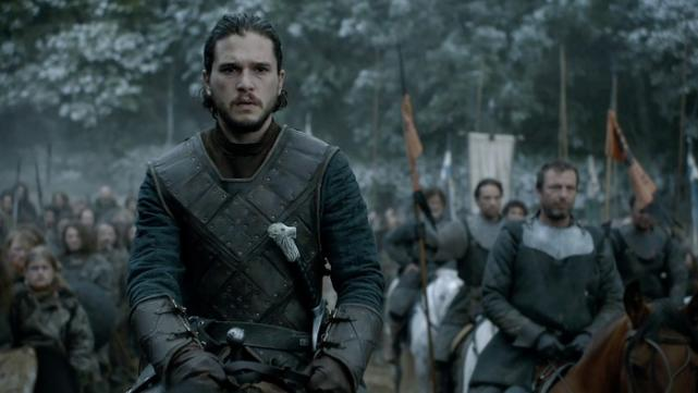 Jon snow ready for battle