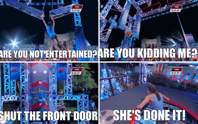 Kacy catanzaro crushes american ninja warrior course kacy catanzaro owns american ninja warrior