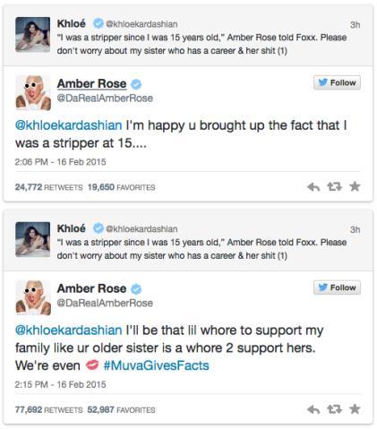 Amber Rose and Khloe Kardashian