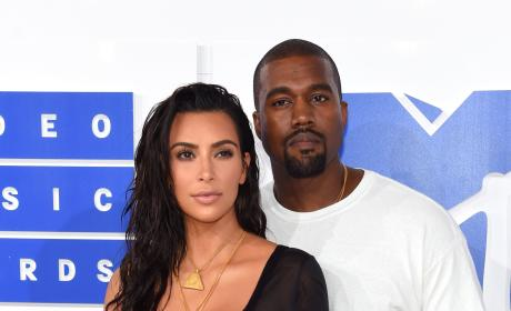 Kim and Kanye at the VMAs