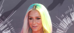 "Kesha: Topless at the VMAs! ""Rainbow Naked Boob"" Wins Instagram!"
