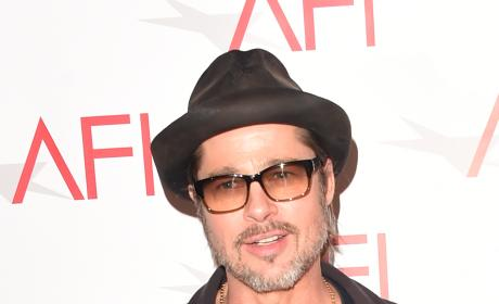 Brad Pitt with a Hat