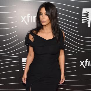 Kim Kardashian in a LBD