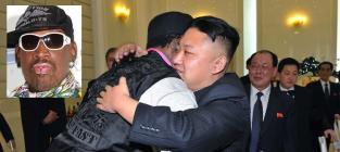 Dennis Rodman and Kim Jong Un Pic