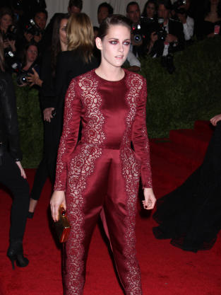 Kristen Stewart in Dark Red