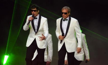 Andy Samberg and Michael Bolton