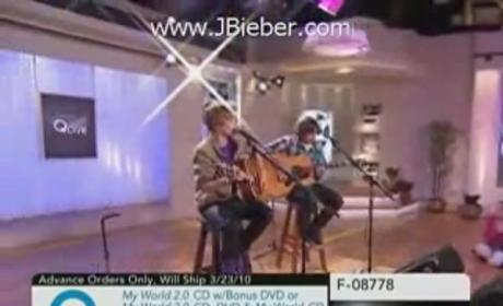 Justin Bieber Performs on QVC