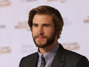 Liam Hemsworth with Facial Hair