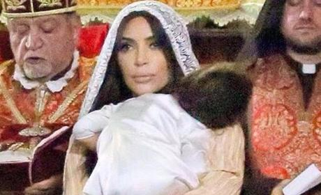 Kim Kardashian Shares North West Baptism Photos