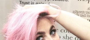 Julianne Hough Pink Hair