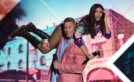John Cena and Victoria Justice