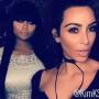 Kim Kardashian and Blac