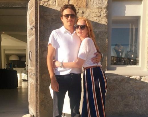 Lindsay Lohan Egor Tarabasov Greece Pic