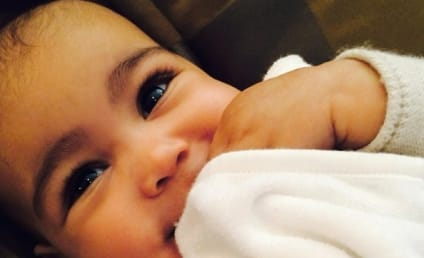 Kim Kardashian Unveils New North West Pic, Raises Eye Brow Waxing Questions