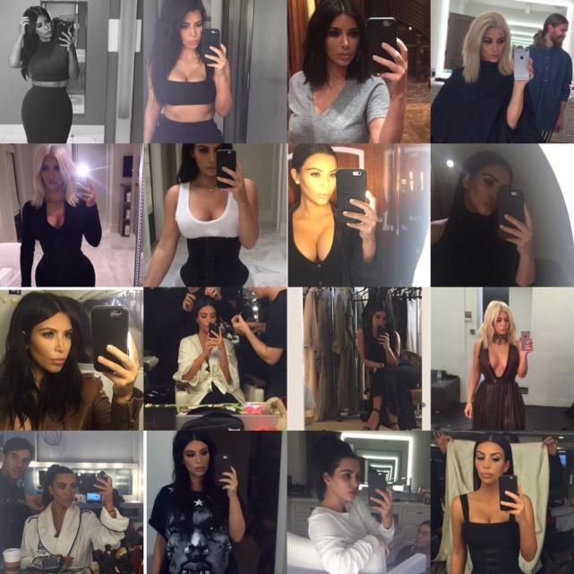 Kim Kardashian Cleavage Selfies