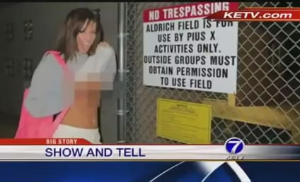 Valerie Dodds Poses Topless in Front of School in Response to Career Backlash