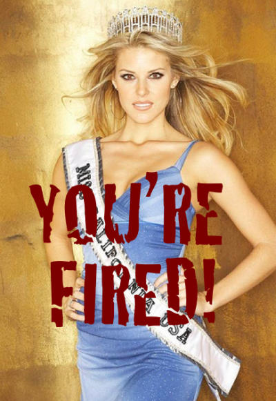 Carrie Prejean FIRED!