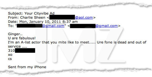 Charlie Sheen Email