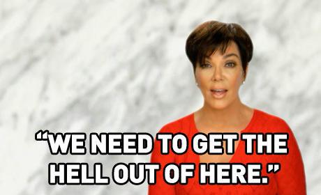 Kris Jenner Panics