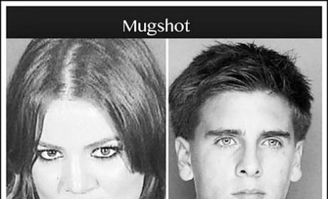 Khloe and Scott Mug Shots