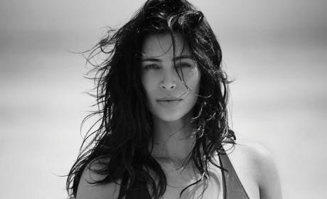 Kim Kardashian Swimsuit Shot for Editorialist