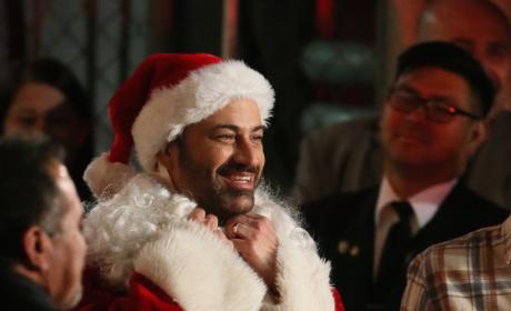 Jimmy Kimmel Films a Christmas 2015 Sketch