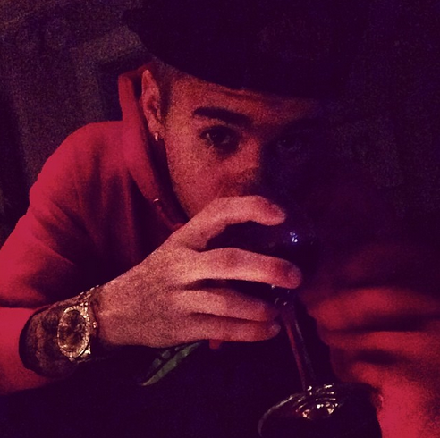 Justin Bieber Drinks Wine