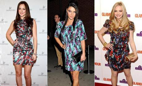 Celebrity Fashion Face-Off: Leighton Meester vs. Jessica Szohr vs. Amanda Seyfried