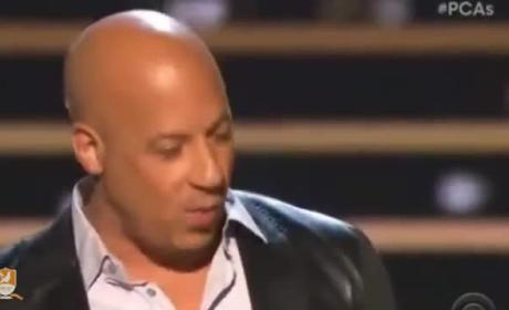 Vin Diesel Pays Touching Tribute to Paul Walker at the People's Choice Awards