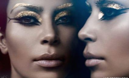 Kim Kardashian Channels Elizabeth Taylor in Weird Photo Shoot