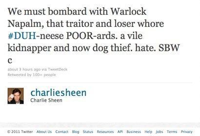 Chuck Sheen Tweet