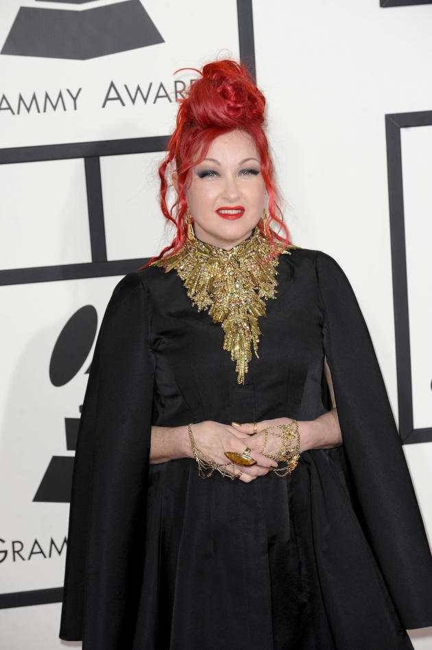 Cyndi Lauper at the Grammys