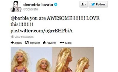 Demi Lovato Loves New Barbie, Realistic Rear End