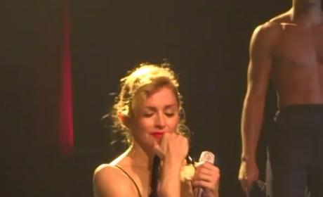 "Madonna Cries During ""Like a Virgin"" Performance"