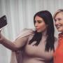 Kim Kardashian Snaps Second Selfie with Hillary Clinton