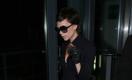 Victoria Beckham Shows Off Nipples, Cruz Beckham