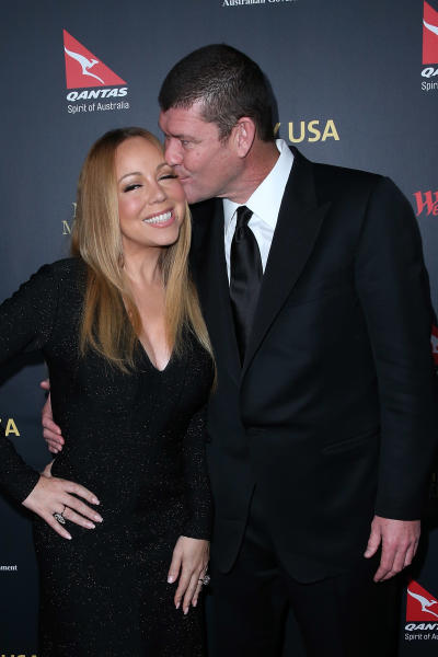 James Packer Kisses Mariah Carey