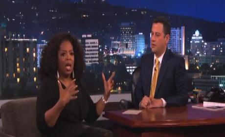 Oprah Winfrey Gives Away a Car on Jimmy Kimmel Live