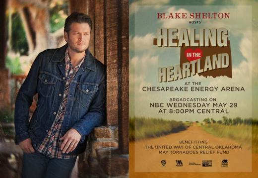 Healing in the Heartland: Relief Benefit Concert Poster