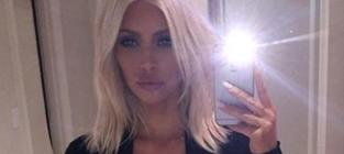 Kim Kardashian Mourns Loss of Blonde Hair, Waist Training Corset on Instagram