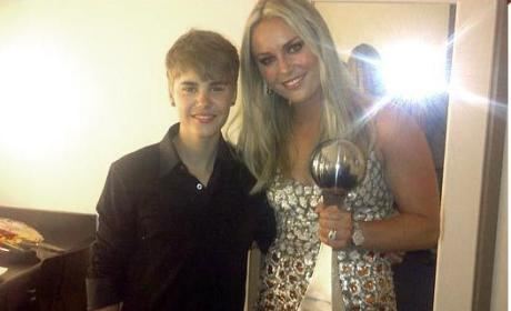 Lindsey Vonn and Justin Bieber