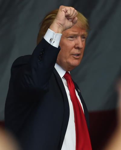 Donald Trump, Fist Raised