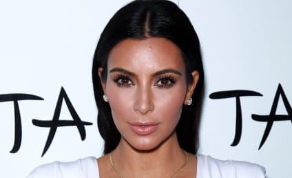 Kim Kardashian, GIANT Boobs Celebrate 34th Birthday in Vegas