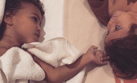 Kim Kardashian Posts THE CUTEST Photo of North and Penelope