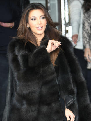 Kim Kardashian in Fur