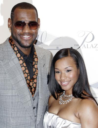 Savannah Brinson with LeBron James