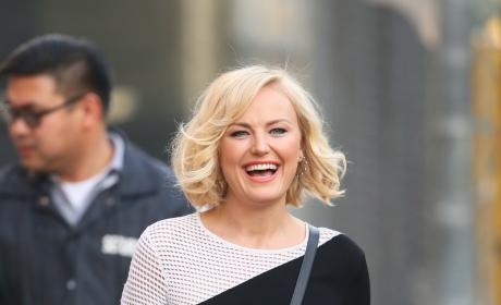 Malin Akerman Heads Into Jimmy Kimmel Live! Studios