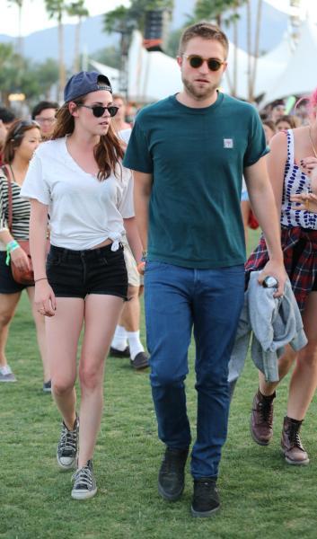 Robert Pattinson and Kristen Stewart at Coachella